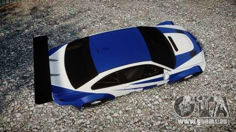 BMW M3 E46 GTR Most Wanted plate NFS pour GTA 4 est un droit
