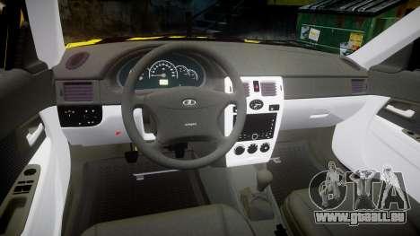 VAZ-Lada 2170 Priora hobo pour GTA 4 est une vue de l'intérieur