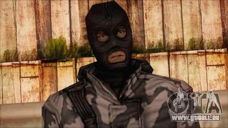 Artic from Counter Strike Condition Zero pour GTA San Andreas troisième écran