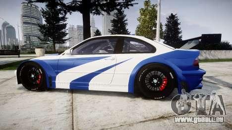 BMW M3 E46 GTR Most Wanted plate Liberty City pour GTA 4 est une gauche