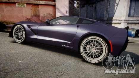 Chevrolet Corvette Z06 2015 TireMi4 pour GTA 4 est une gauche