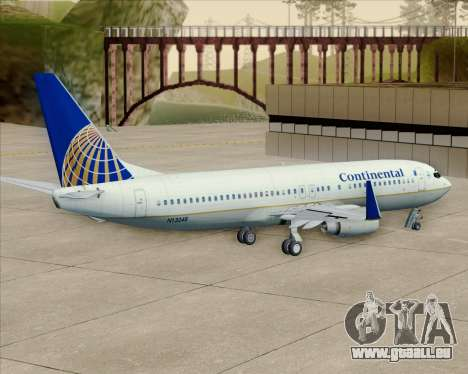 Boeing 737-800 Continental Airlines pour GTA San Andreas vue intérieure