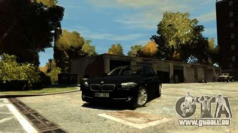 BMW 525 F10 für GTA 4 Rückansicht