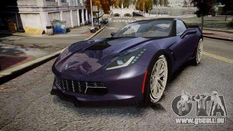 Chevrolet Corvette Z06 2015 TireMi4 pour GTA 4