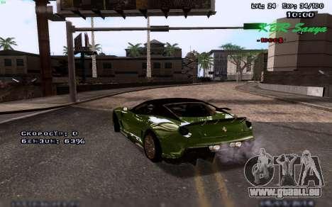 Des graphismes améliorés pour les moyennes et le pour GTA San Andreas deuxième écran