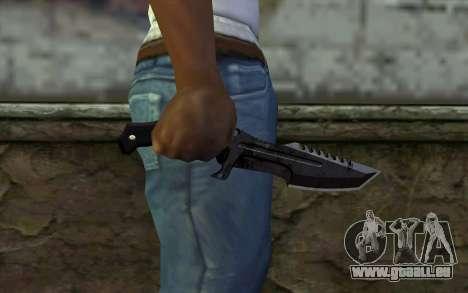 Knife from COD: Ghosts v2 pour GTA San Andreas troisième écran