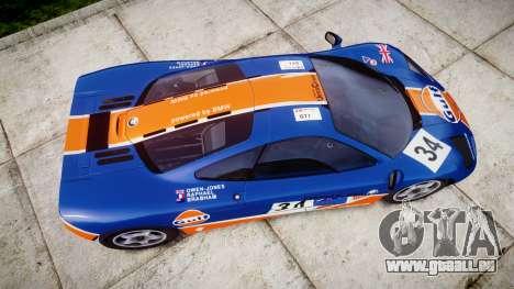 McLaren F1 1993 [EPM] Gulf 34 pour GTA 4 est un droit