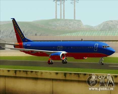 Boeing 737-800 Southwest Airlines pour GTA San Andreas vue de côté