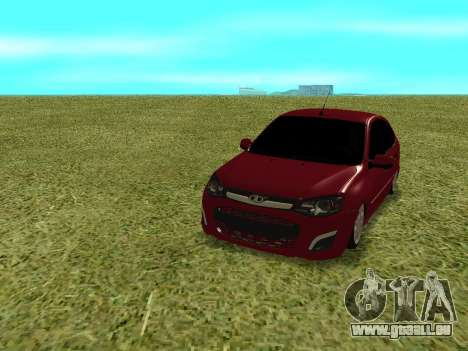 Lada Granta Kalina 2 für GTA San Andreas Rückansicht