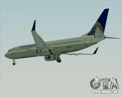 Boeing 737-800 Continental Airlines pour GTA San Andreas vue de côté