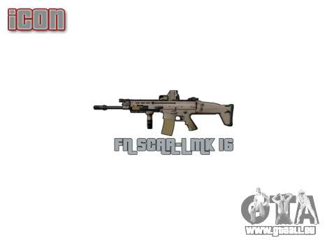 Maschine FN SCAR-L Mk 16 icon3 für GTA 4 dritte Screenshot