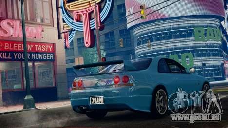 Nissan Skyline BCNR33 JUN VER pour GTA 4 est une gauche