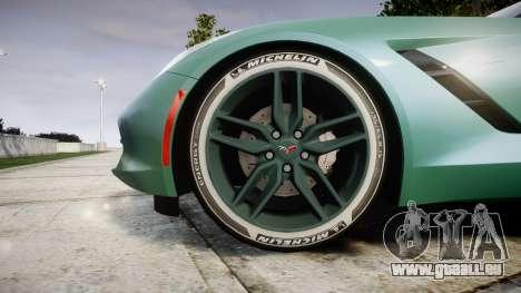 Chevrolet Corvette C7 Stingray 2014 v2.0 TireMi3 für GTA 4 Rückansicht