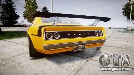 Declasse Tampa GT pour GTA 4 Vue arrière de la gauche