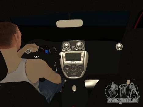 Lada Granta Kalina 2 pour GTA San Andreas vue de dessus