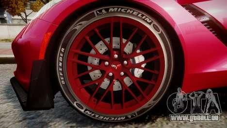 Chevrolet Corvette Z06 2015 TireMi2 für GTA 4 Rückansicht