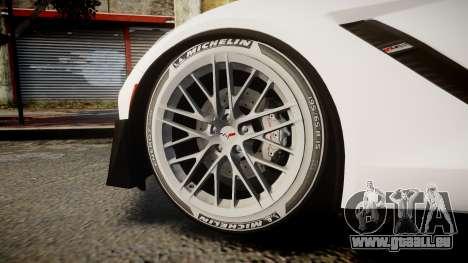 Chevrolet Corvette Z06 2015 TireMi3 pour GTA 4 Vue arrière