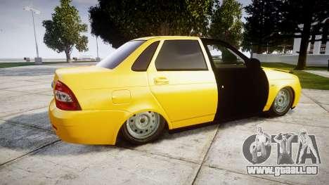 VAZ-Lada 2170 Priora hobo pour GTA 4 est une gauche