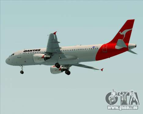 Airbus A320-200 Qantas für GTA San Andreas rechten Ansicht