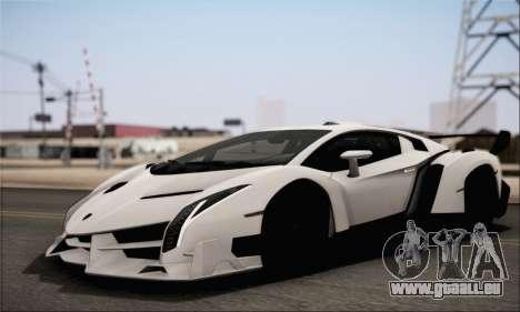 Lamborghini Veneno LP750-4 White Black 2014 HQLM für GTA San Andreas