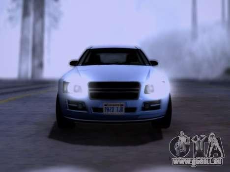 Obey Tailgater GTA V pour GTA San Andreas vue de droite