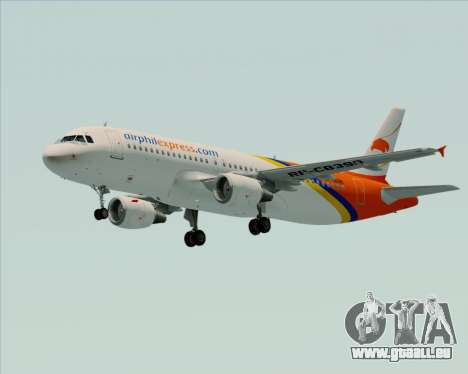 Airbus A320-200 Airphil Express pour GTA San Andreas vue intérieure
