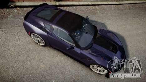 Chevrolet Corvette Z06 2015 TireMi4 pour GTA 4 est un droit