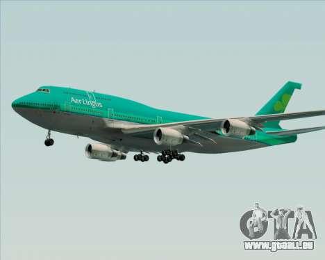 Boeing 747-400 Aer Lingus für GTA San Andreas obere Ansicht