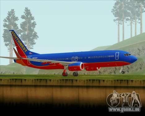 Boeing 737-800 Southwest Airlines für GTA San Andreas linke Ansicht