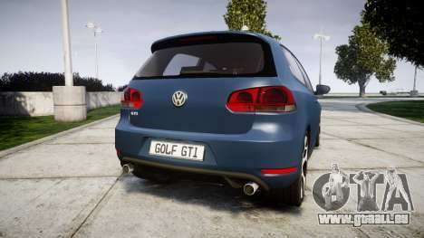 Volkswagen Golf GTI 2010 pour GTA 4 Vue arrière de la gauche