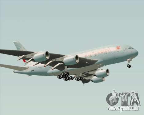 Airbus A380-800 Air Canada pour GTA San Andreas vue de dessous