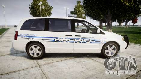 Dodge Grand Caravan [ELS] Liberty County Sheriff für GTA 4 linke Ansicht