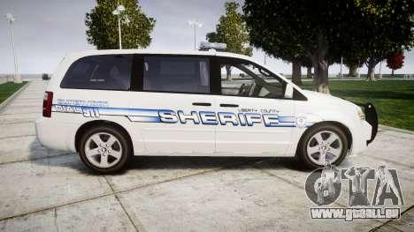 Dodge Grand Caravan [ELS] Liberty County Sheriff für GTA 4 linke Ansicht
