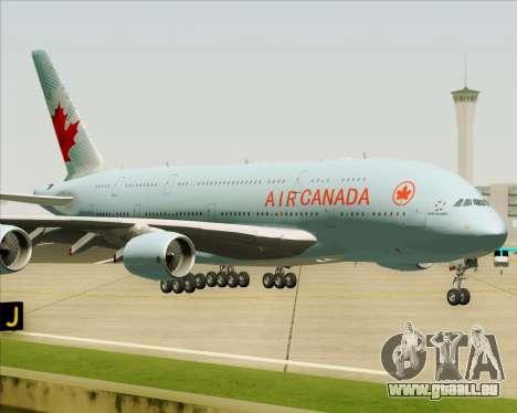 Airbus A380-800 Air Canada pour GTA San Andreas vue de côté