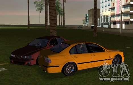 BMW M5 E39 pour GTA Vice City sur la vue arrière gauche