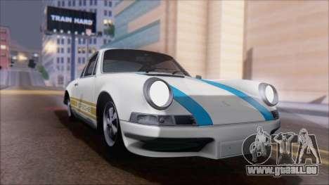 Porsche 911 Carrera 1973 Tunable KIT A für GTA San Andreas Rückansicht