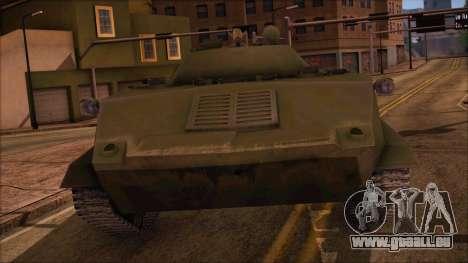 DMO-1 à partir de l'ArmA Armed Assault Standard pour GTA San Andreas sur la vue arrière gauche