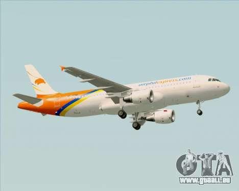 Airbus A320-200 Airphil Express pour GTA San Andreas vue de droite