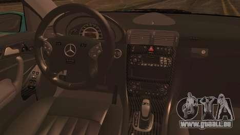 Mercedes-Benz C320 AMG für GTA San Andreas zurück linke Ansicht