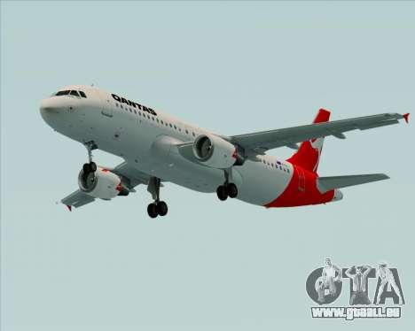 Airbus A320-200 Qantas für GTA San Andreas linke Ansicht