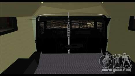SWAT Enforcer für GTA San Andreas zurück linke Ansicht