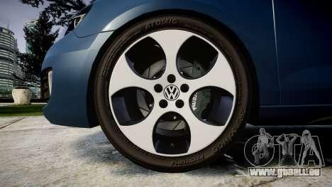 Volkswagen Golf GTI 2010 pour GTA 4 Vue arrière