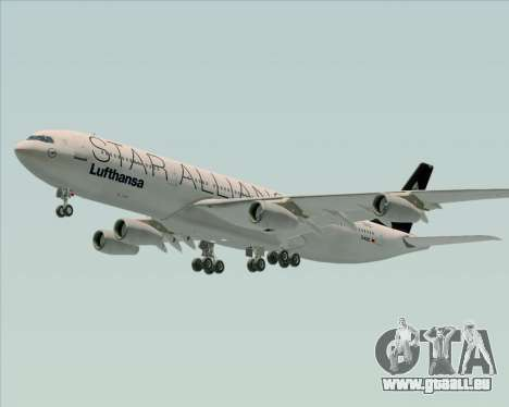 Airbus A340-300 Lufthansa (Star Alliance Livery) pour GTA San Andreas roue