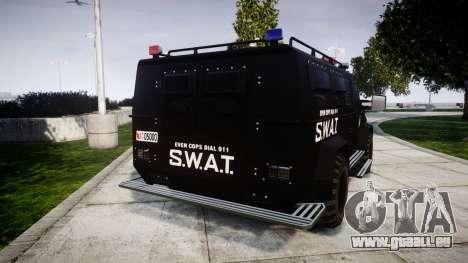 SWAT Van [ELS] pour GTA 4 Vue arrière de la gauche