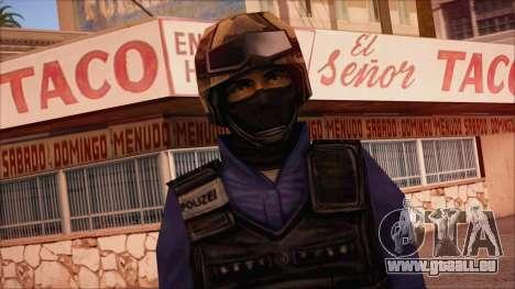 GSG9 from Counter Strike Condition Zero pour GTA San Andreas troisième écran