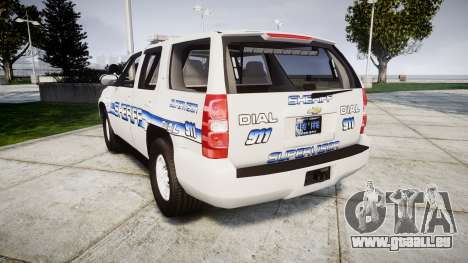 Chevrolet Tahoe [ELS] Liberty County Sheriff für GTA 4 hinten links Ansicht