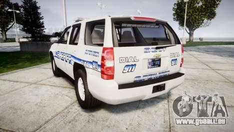 Chevrolet Tahoe [ELS] Liberty County Sheriff pour GTA 4 Vue arrière de la gauche