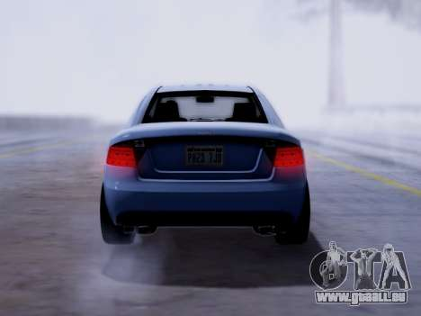 Obey Tailgater GTA V pour GTA San Andreas sur la vue arrière gauche