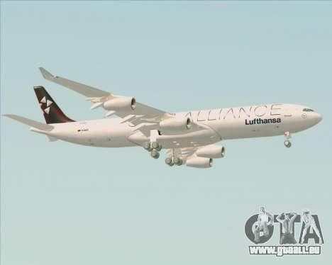 Airbus A340-300 Lufthansa (Star Alliance Livery) für GTA San Andreas rechten Ansicht