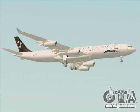 Airbus A340-300 Lufthansa (Star Alliance Livery) pour GTA San Andreas vue de droite